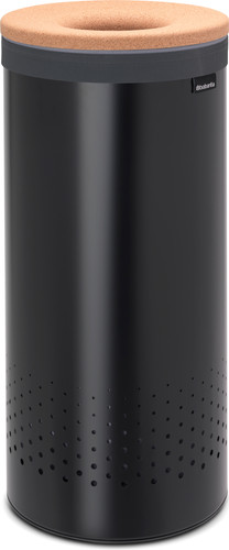 Brabantia Laundry box 35 liters with cork lid - Matt Black Main Image