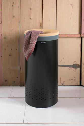 Brabantia Wasbox 50 Liter Matt Steel.Brabantia Laundry Box 35 Liters With Cork Lid Matt Black