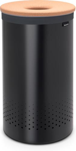 Brabantia Laundry box 60 liters with cork lid - Matt Black Main Image