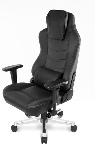 AKRacing, Gaming Chair Office Deluxe - Leer Onyx / Zwart Main Image