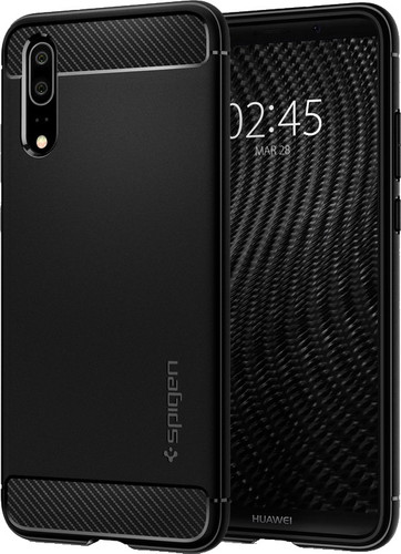Spigen Rugged Amor Huawei P20 Back Cover Zwart Main Image