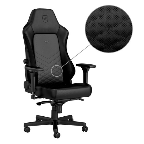 Noblechairs HERO Gaming Stoel PU Faux Leather black white