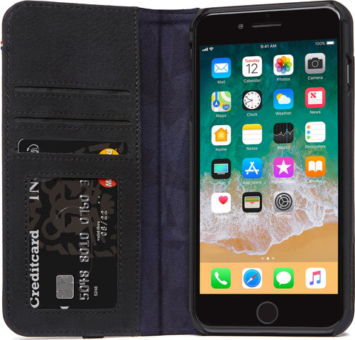 Decoded Leather Wallet Case iPhone 8 Plus / 7Plus Black Main Image