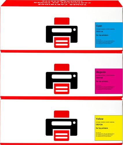 Pixeljet 126A Toner Cartridge 3 Colors for HP printers (CF371AM) Main Image