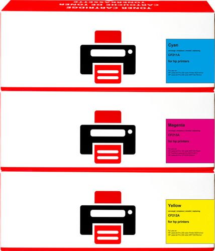 Pixeljet 131A Toner Cartridge 3 Colors for HP printers (U0SL1AM) Main Image