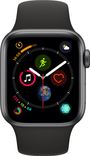 Apple Watch Series 4 40mm Space Gray Aluminium/Zwarte Sportband Main Image