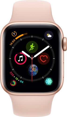 Apple Watch Series 4 40mm Goud Aluminium/Roze Sportband Main Image