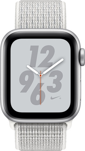 Apple Watch Series 4 40mm Nike+ Zilver Aluminium/Nylon Sportband Main Image