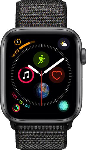 Apple Watch Series 4 44mm Space Gray Aluminium/Zwarte Nylon Sportband Main Image