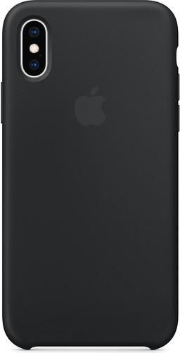 Apple iPhone Xs Silicone Back Cover Black Main Image