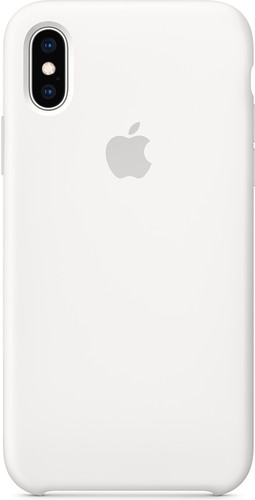 Apple iPhone Xs Silicone Back Cover White Main Image