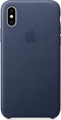 Apple iPhone Xs Leather Back Cover Midnight Blue Main Image