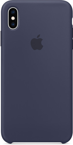 Apple iPhone Xs Max Silicone Back Cover Midnight Blue Main Image