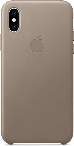 Apple iPhone Xs Max Leather Back Cover Taupe Main Image
