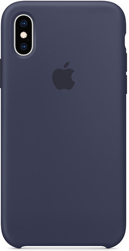 Apple iPhone Xs Silicone Back Cover Midnight Blue Main Image