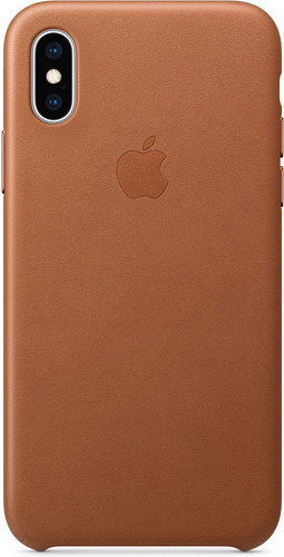 Apple iPhone Xs Leather Back Cover Saddle Brown Main Image