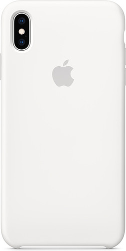 Apple iPhone Xs Max Silicone Back Cover White Main Image
