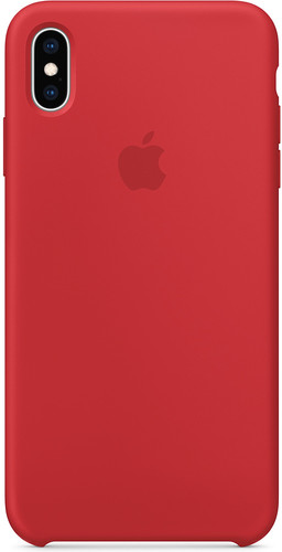Apple iPhone Xs Max Silicone Back Cover RED Main Image