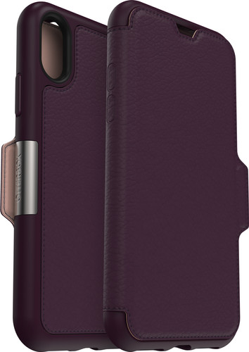 Otterbox Strada Apple iPhone Xs Book Case Purple Main Image
