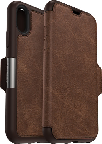 Otterbox Strada Apple iPhone Xs Book Case Brown Main Image
