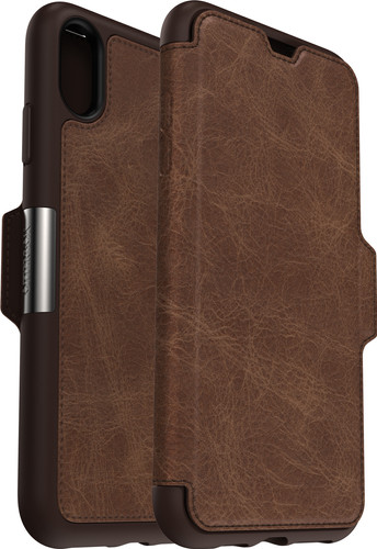 Otterbox Strada Apple iPhone Xs Max Book Case Brown Main Image