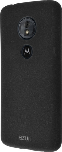 Azuri Flexible Sand Motorola Moto G6 Play Back Cover Black Main Image