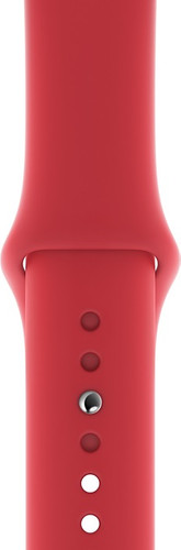 Apple Watch 44 mm Siliconen Horlogeband Sport RED Main Image