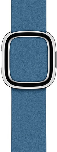 Apple Watch 40mm Modern Leren Horlogeband Cape Cod Blauw - Medium Main Image