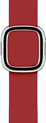 Apple Watch 40mm Modern Leren Horlogeband RED - Small Main Image