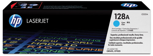 HP 128A Cyan LaserJet Toner (blue) (CE321A) Main Image