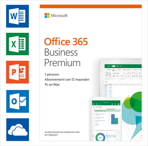 Microsoft Office 365 Zakelijk Premium 1 jaar Abonnement EN Main Image