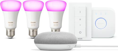 Google Home Mini Philips Hue Starter Pack Main Image