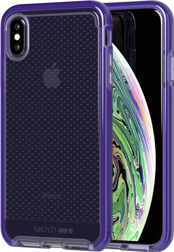 Tech21 Evo Check Apple iPhone Xs Max Back Cover Purple Main Image
