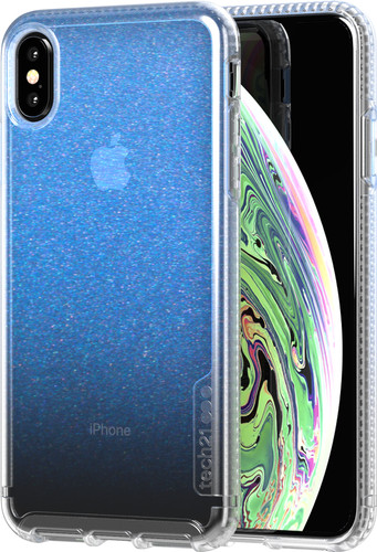 more photos bc9a6 52b1e Tech21 Pure Shimmer iPhone Xs Max Back Cover Iridescent Blue