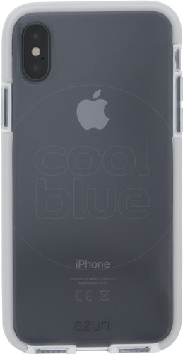 Azuri Flexible Bumper Apple iPhone X Back Cover White Main Image