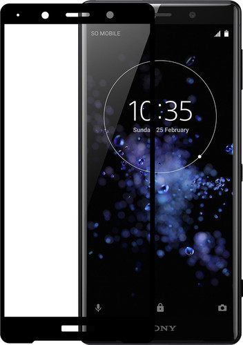 Azuri Tempered Glass Sony Xperia XZ2 Premium Screen Protector Glass Black Main Image