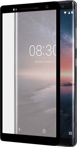 Azuri Curved Tempered Glass Nokia 8 Sirocco Screen Protector Glass Black Main Image