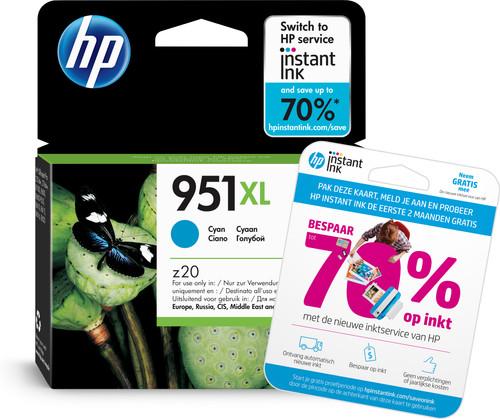 HP 951XL Officejet Ink Cartridge Cyaan (CN046AE) Main Image