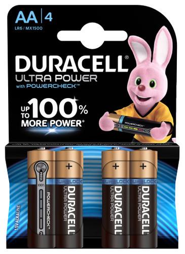 Duracell Ultra Power alkaline AA batteries 4 pieces Main Image