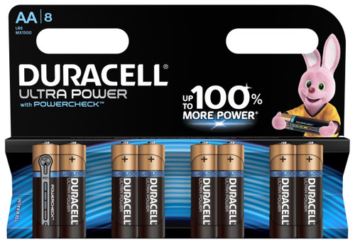 Duracell Ultra Power alkaline AA batteries 8 pieces Main Image