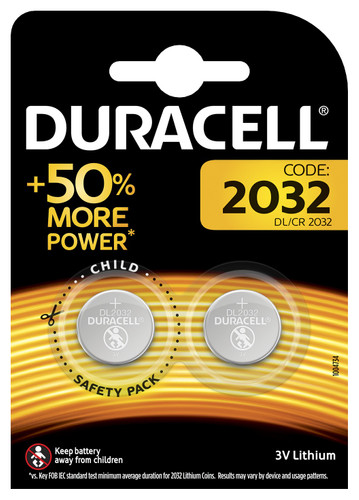 Duracell Specialty 2032 Lithium button cell battery 3V 2 pieces Main Image