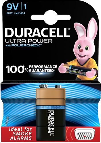 Duracell Ultra Power alkaline 9V battery 1 piece Main Image