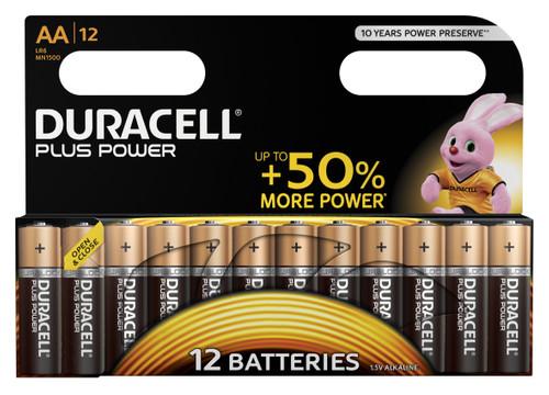 Duracell Plus Power alkaline AA-batterijen 12 stuks Main Image