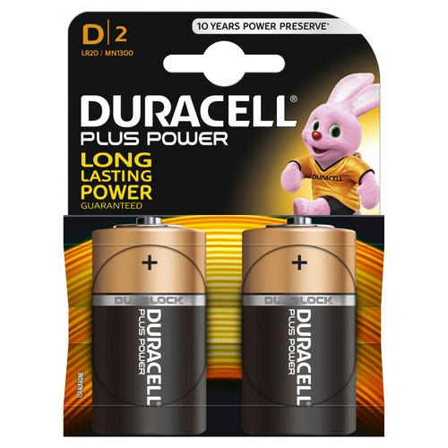 Duracell Plus Power alkaline D-batterijen 2 stuks Main Image