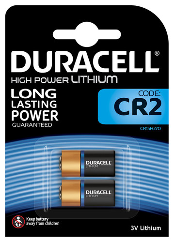 Duracell High Power Lithium CR2 battery 3V 2 pieces Main Image