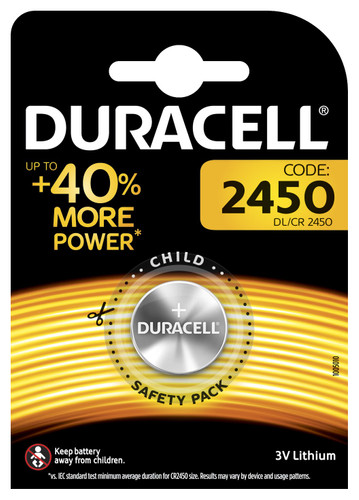 Duracell Specialty 2450 Lithium button cell battery 3V 1 pcs Main Image
