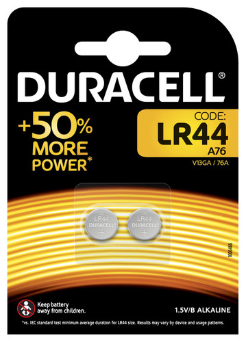 Duracell Specialty LR44 Alkaline button cell battery 1.5V 2pcs Main Image