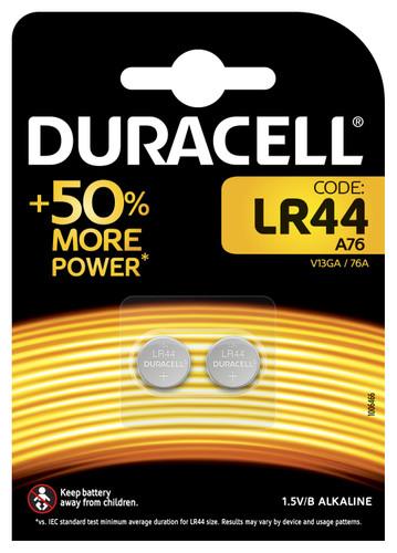 Duracell Specialty LR44 Alkaline-knoopcelbatterij 1,5V 2st Main Image
