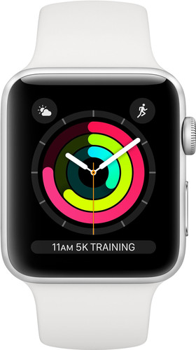 Apple Watch Series 3 42mm Silver Aluminium/Wit Main Image