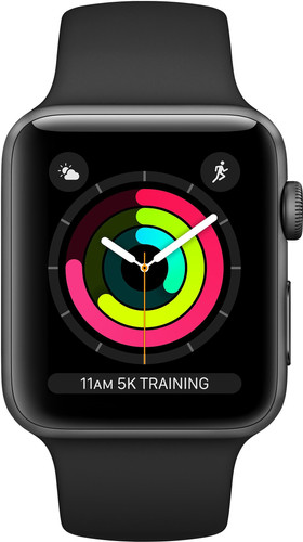 Apple Watch Series 3 42mm Space Gray Aluminium/Zwart Main Image
